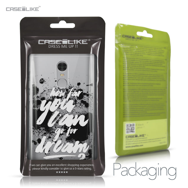 Xiaomi Redmi Note 4 case Quote 2413 Retail Packaging | CASEiLIKE.com