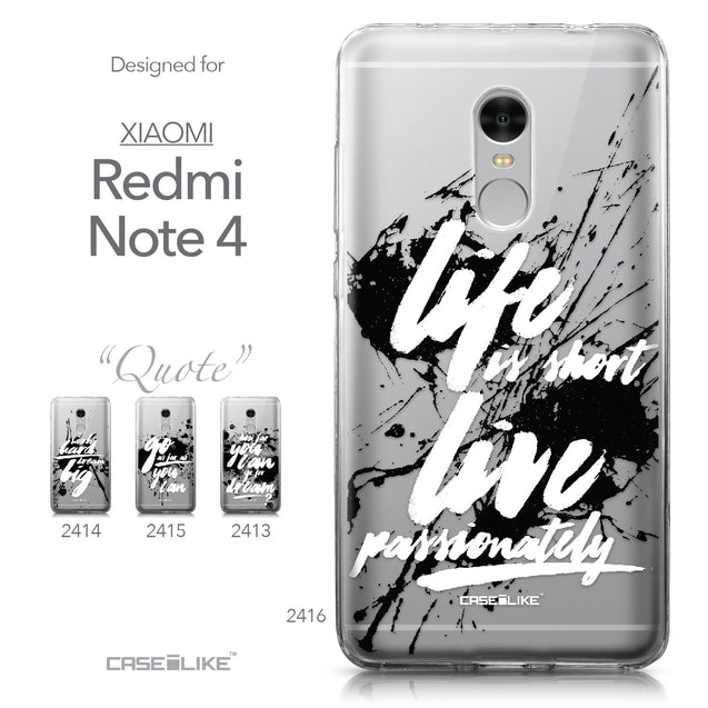 Xiaomi Redmi Note 4 case Quote 2416 Collection | CASEiLIKE.com