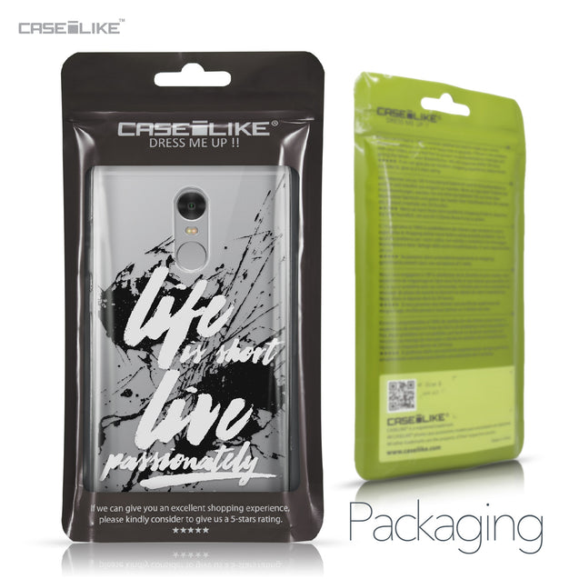 Xiaomi Redmi Note 4 case Quote 2416 Retail Packaging | CASEiLIKE.com