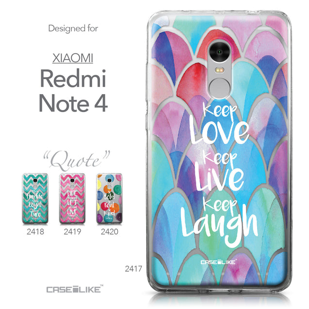 Xiaomi Redmi Note 4 case Quote 2417 Collection | CASEiLIKE.com