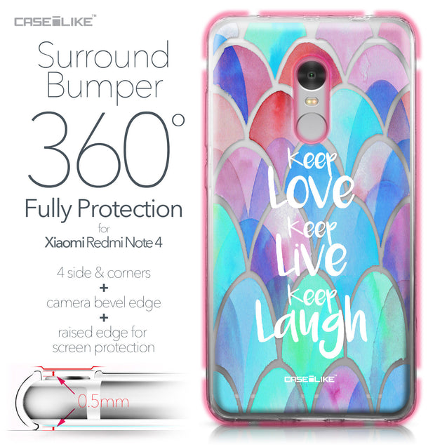 Xiaomi Redmi Note 4 case Quote 2417 Bumper Case Protection | CASEiLIKE.com