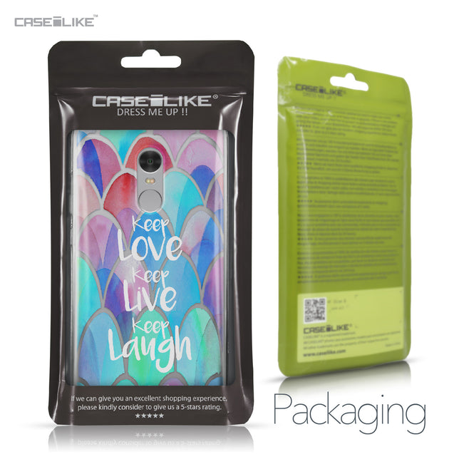 Xiaomi Redmi Note 4 case Quote 2417 Retail Packaging | CASEiLIKE.com