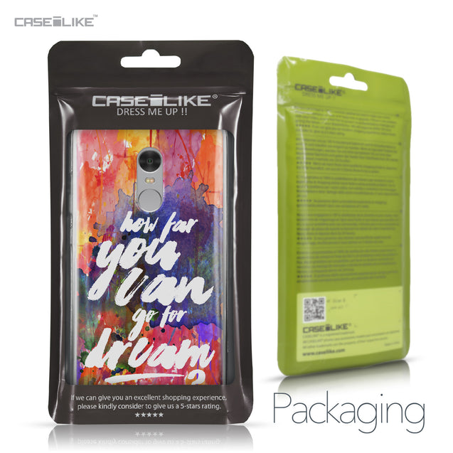 Xiaomi Redmi Note 4 case Quote 2421 Retail Packaging | CASEiLIKE.com