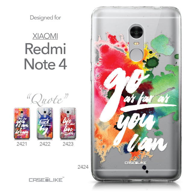 Xiaomi Redmi Note 4 case Quote 2424 Collection | CASEiLIKE.com