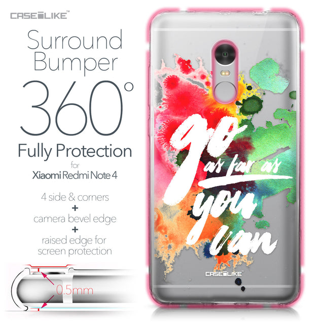 Xiaomi Redmi Note 4 case Quote 2424 Bumper Case Protection | CASEiLIKE.com