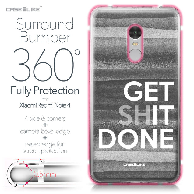 Xiaomi Redmi Note 4 case Quote 2429 Bumper Case Protection | CASEiLIKE.com