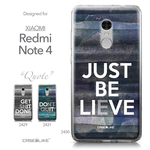 Xiaomi Redmi Note 4 case Quote 2430 Collection | CASEiLIKE.com