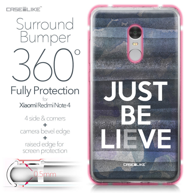 Xiaomi Redmi Note 4 case Quote 2430 Bumper Case Protection | CASEiLIKE.com