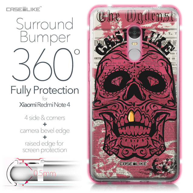 Xiaomi Redmi Note 4 case Art of Skull 2523 Bumper Case Protection | CASEiLIKE.com
