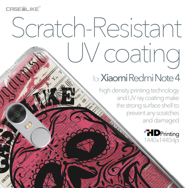 Xiaomi Redmi Note 4 case Art of Skull 2523 with UV-Coating Scratch-Resistant Case | CASEiLIKE.com