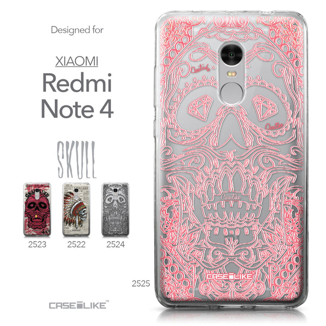 Xiaomi Redmi Note 4 case Art of Skull 2525 Collection | CASEiLIKE.com