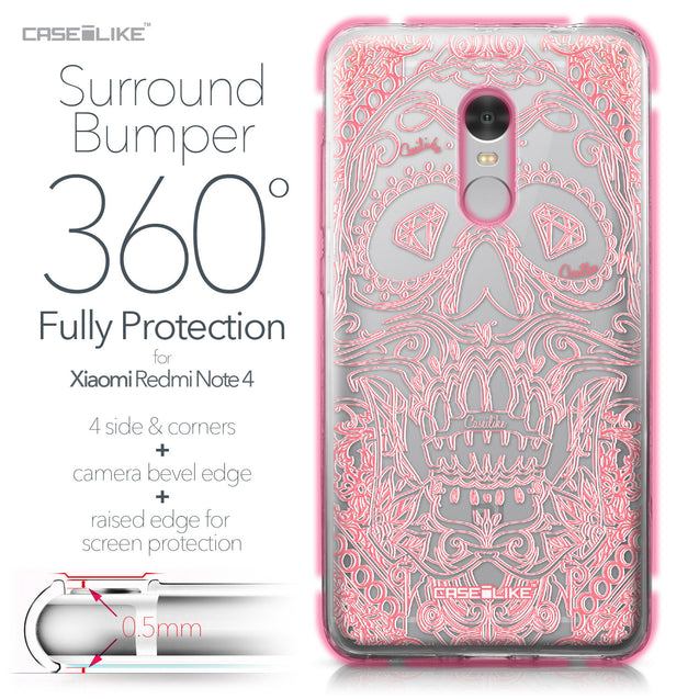 Xiaomi Redmi Note 4 case Art of Skull 2525 Bumper Case Protection | CASEiLIKE.com