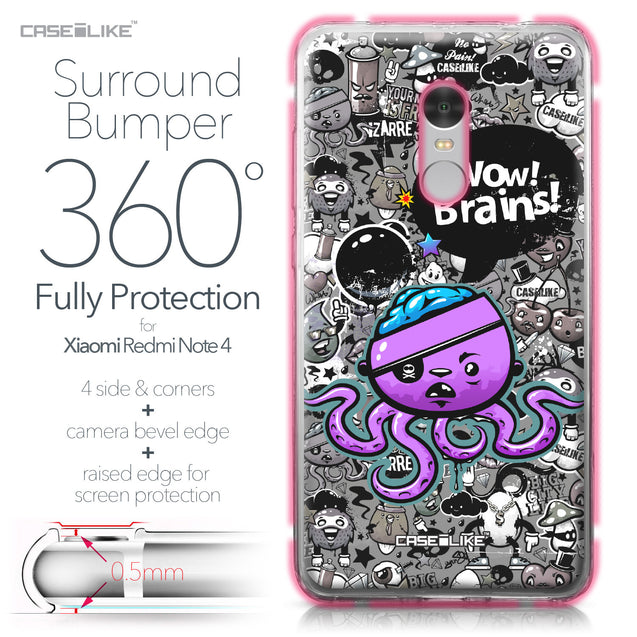 Xiaomi Redmi Note 4 case Graffiti 2707 Bumper Case Protection | CASEiLIKE.com