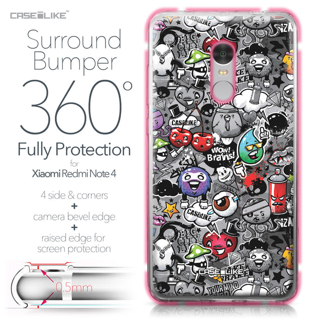 Xiaomi Redmi Note 4 case Graffiti 2709 Bumper Case Protection | CASEiLIKE.com