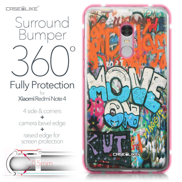 Xiaomi Redmi Note 4 case Graffiti 2722 Bumper Case Protection | CASEiLIKE.com