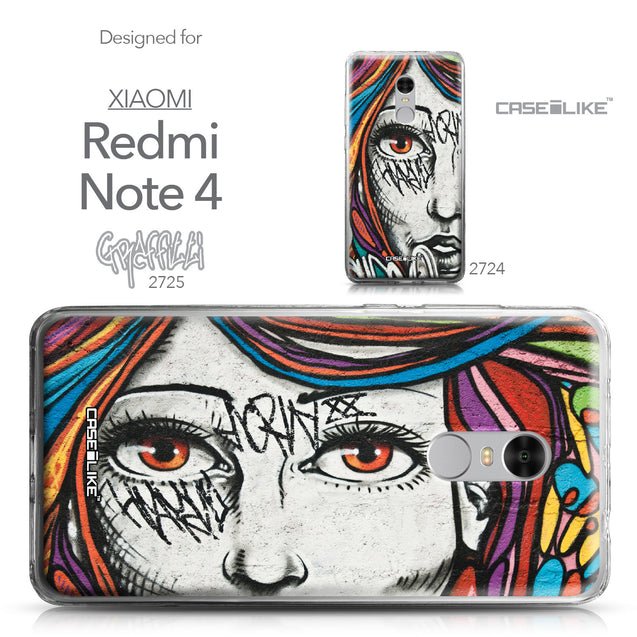 Xiaomi Redmi Note 4 case Graffiti Girl 2725 Collection | CASEiLIKE.com
