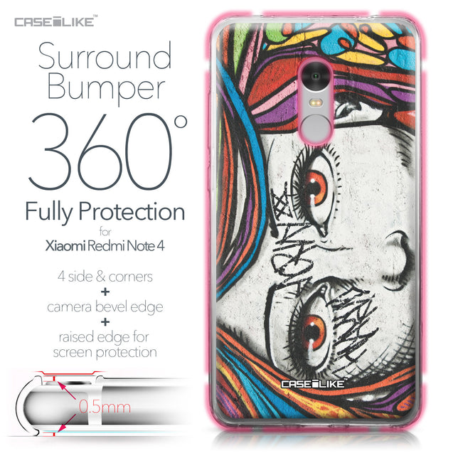 Xiaomi Redmi Note 4 case Graffiti Girl 2725 Bumper Case Protection | CASEiLIKE.com