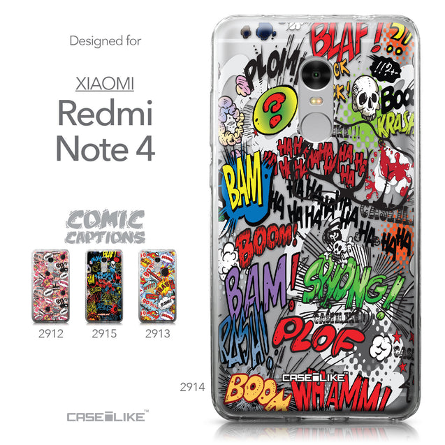 Xiaomi Redmi Note 4 case Comic Captions 2914 Collection | CASEiLIKE.com