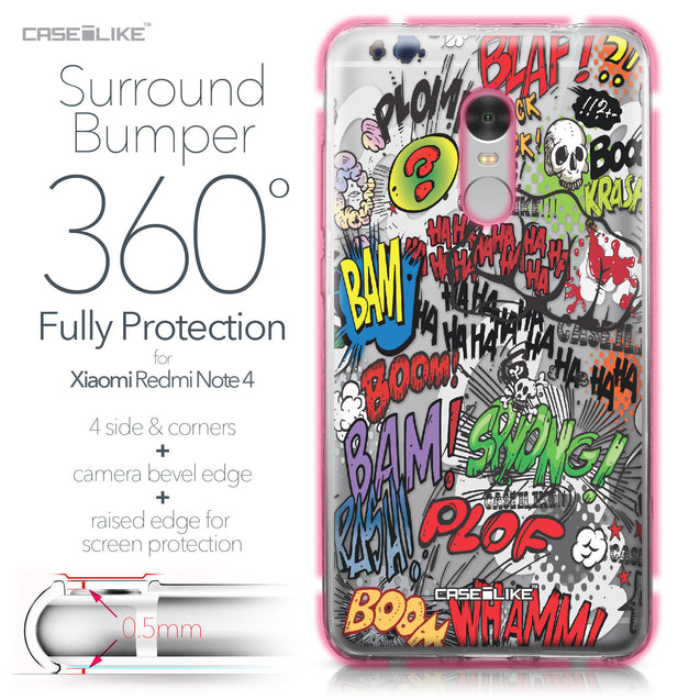 Xiaomi Redmi Note 4 case Comic Captions 2914 Bumper Case Protection | CASEiLIKE.com