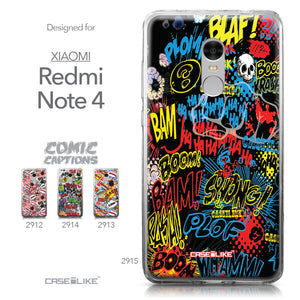 Xiaomi Redmi Note 4 case Comic Captions Black 2915 Collection | CASEiLIKE.com
