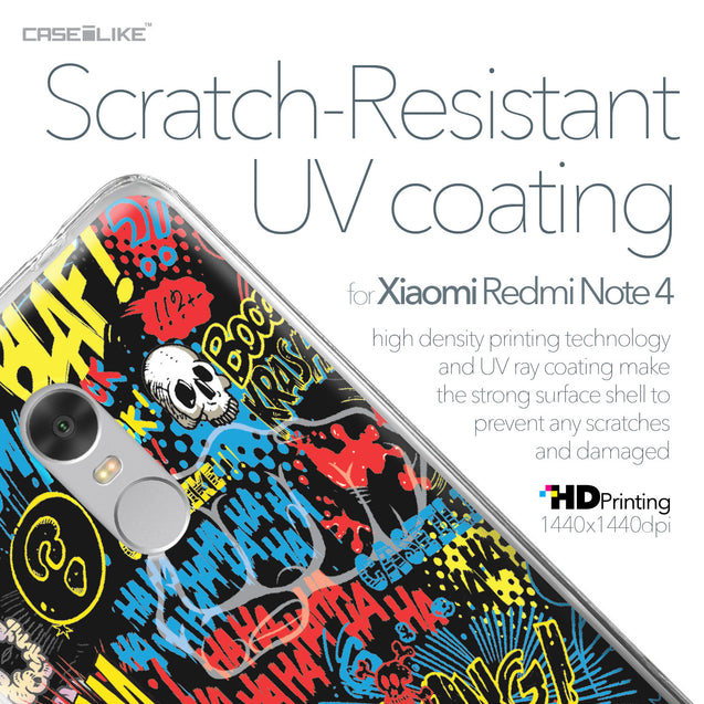Xiaomi Redmi Note 4 case Comic Captions Black 2915 with UV-Coating Scratch-Resistant Case | CASEiLIKE.com