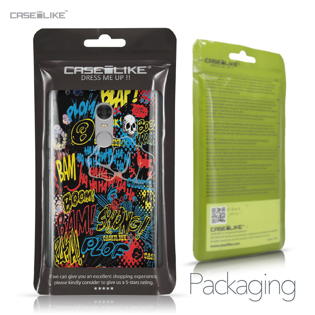 Xiaomi Redmi Note 4 case Comic Captions Black 2915 Retail Packaging | CASEiLIKE.com