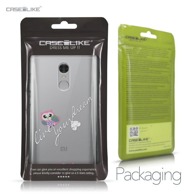 Xiaomi Redmi Note 4 case Owl Graphic Design 3314 Retail Packaging | CASEiLIKE.com