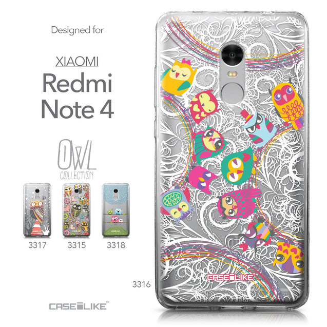 Xiaomi Redmi Note 4 case Owl Graphic Design 3316 Collection | CASEiLIKE.com