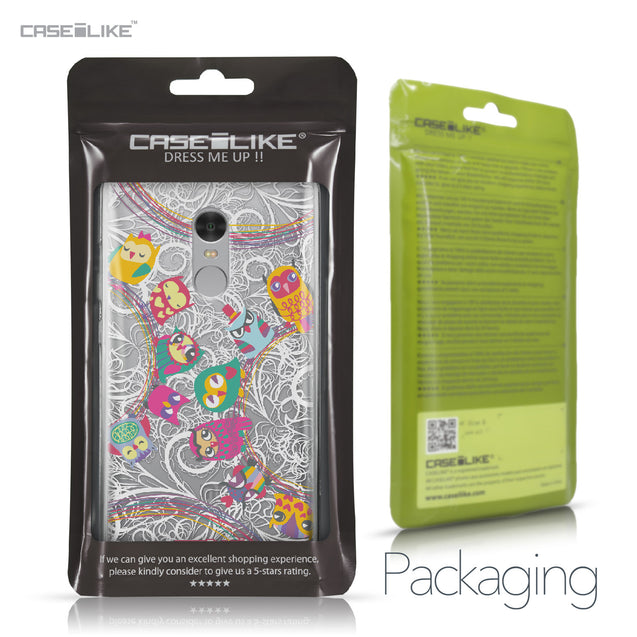Xiaomi Redmi Note 4 case Owl Graphic Design 3316 Retail Packaging | CASEiLIKE.com