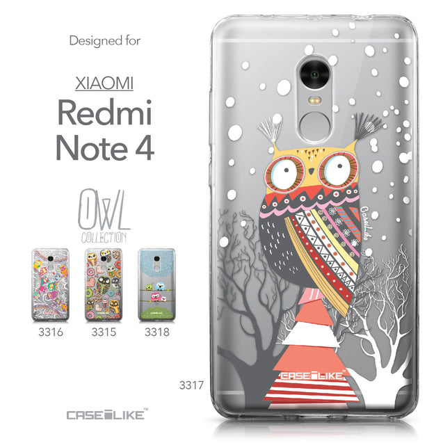 Xiaomi Redmi Note 4 case Owl Graphic Design 3317 Collection | CASEiLIKE.com
