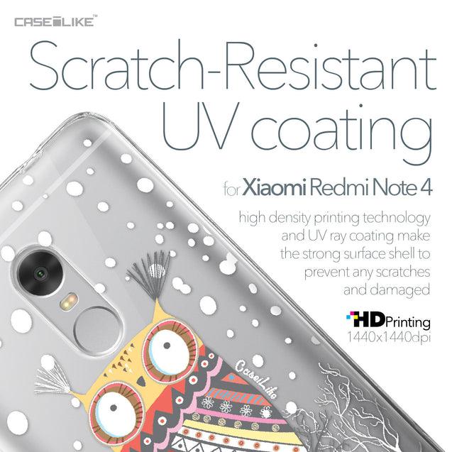 Xiaomi Redmi Note 4 case Owl Graphic Design 3317 with UV-Coating Scratch-Resistant Case | CASEiLIKE.com