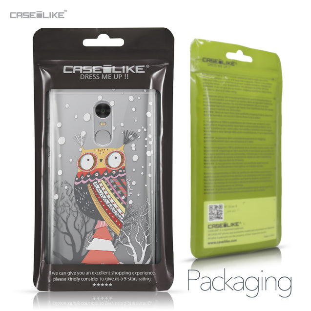 Xiaomi Redmi Note 4 case Owl Graphic Design 3317 Retail Packaging | CASEiLIKE.com