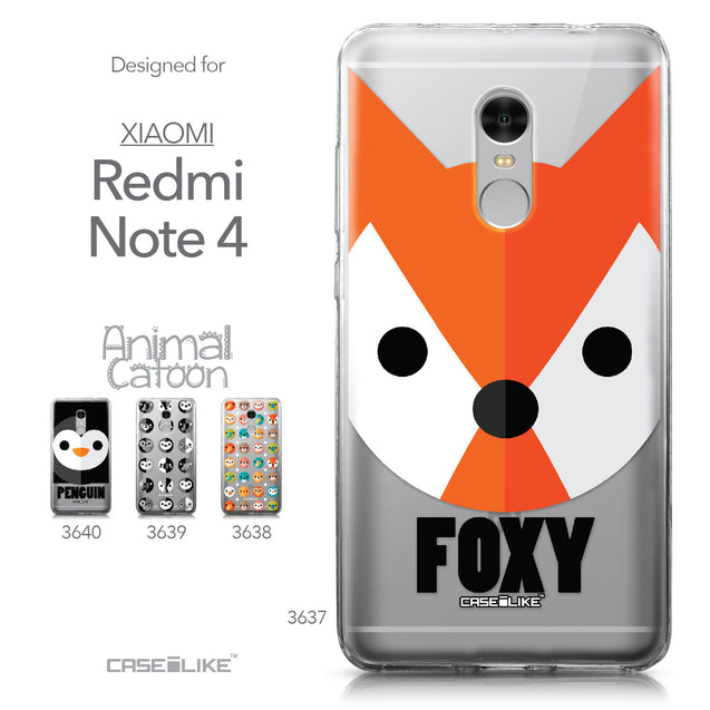 Xiaomi Redmi Note 4 case Animal Cartoon 3637 Collection | CASEiLIKE.com