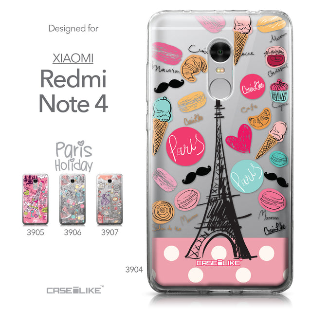 Xiaomi Redmi Note 4 case Paris Holiday 3904 Collection | CASEiLIKE.com