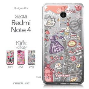 Xiaomi Redmi Note 4 case Paris Holiday 3907 Collection | CASEiLIKE.com