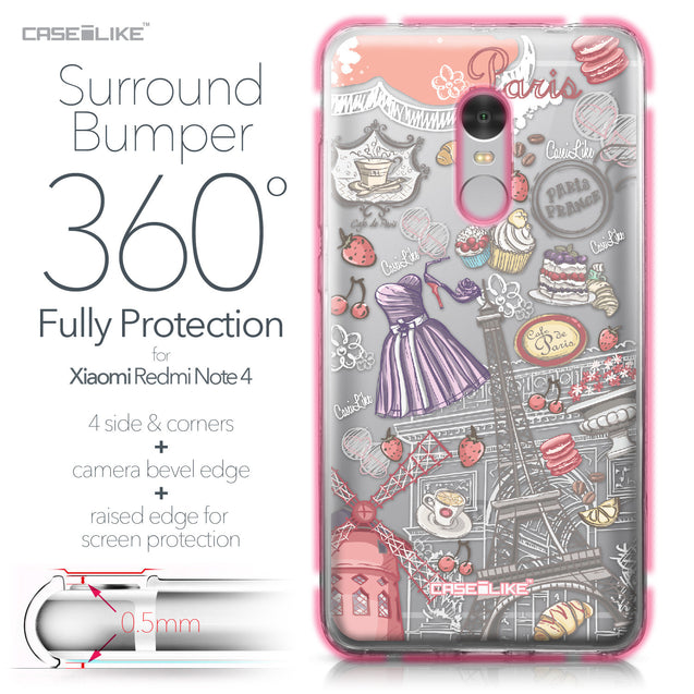 Xiaomi Redmi Note 4 case Paris Holiday 3907 Bumper Case Protection | CASEiLIKE.com