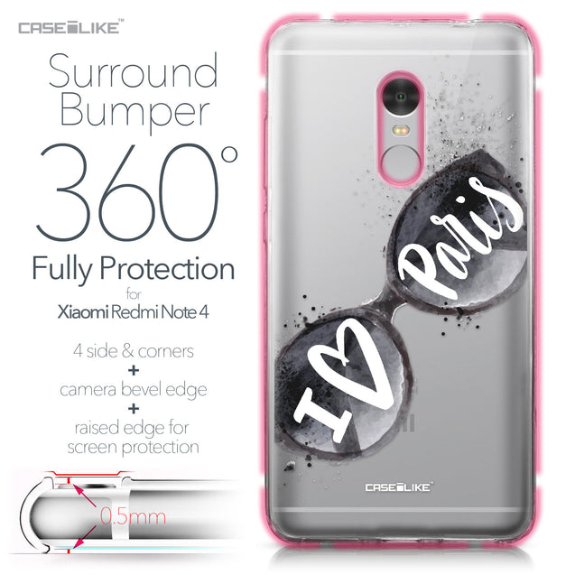 Xiaomi Redmi Note 4 case Paris Holiday 3911 Bumper Case Protection | CASEiLIKE.com