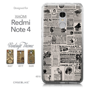 Xiaomi Redmi Note 4 case Vintage Newspaper Advertising 4818 Collection | CASEiLIKE.com