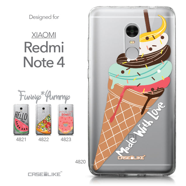 Xiaomi Redmi Note 4 case Ice Cream 4820 Collection | CASEiLIKE.com