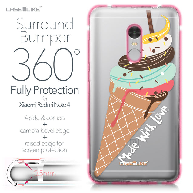 Xiaomi Redmi Note 4 case Ice Cream 4820 Bumper Case Protection | CASEiLIKE.com