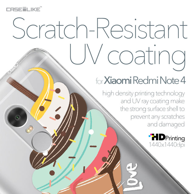 Xiaomi Redmi Note 4 case Ice Cream 4820 with UV-Coating Scratch-Resistant Case | CASEiLIKE.com