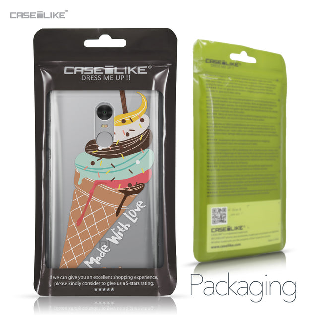 Xiaomi Redmi Note 4 case Ice Cream 4820 Retail Packaging | CASEiLIKE.com