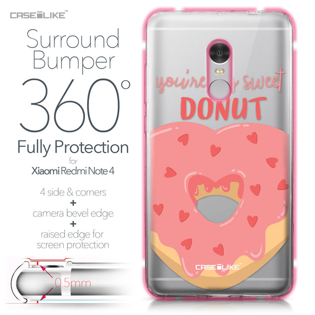 Xiaomi Redmi Note 4 case Dounuts 4823 Bumper Case Protection | CASEiLIKE.com