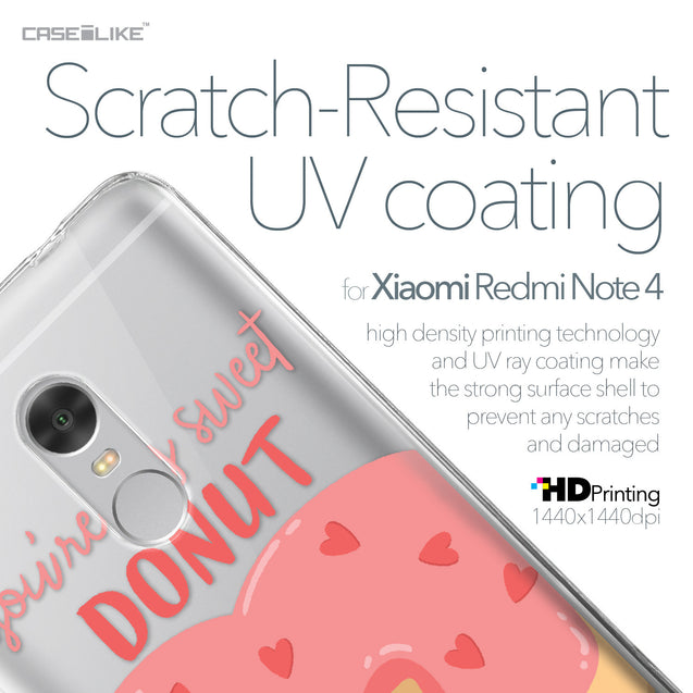 Xiaomi Redmi Note 4 case Dounuts 4823 with UV-Coating Scratch-Resistant Case | CASEiLIKE.com