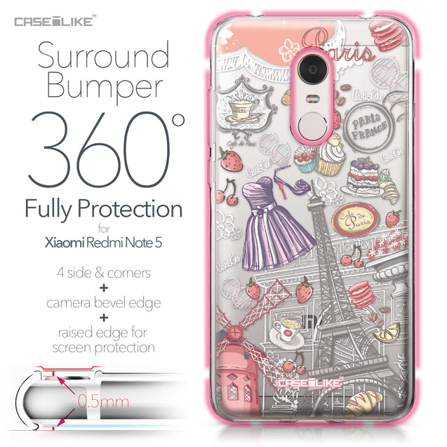 Xiaomi Redmi Note 5 case Paris Holiday 3907 Bumper Case Protection | CASEiLIKE.com