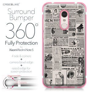 Xiaomi Redmi Note 5 case Vintage Newspaper Advertising 4818 Bumper Case Protection | CASEiLIKE.com