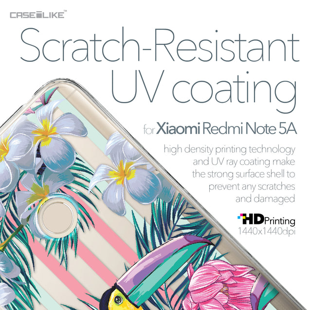 Xiaomi Redmi Note 5A case Tropical Floral 2240 with UV-Coating Scratch-Resistant Case | CASEiLIKE.com