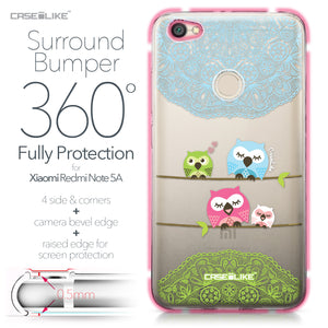 Xiaomi Redmi Note 5A case Owl Graphic Design 3318 Bumper Case Protection | CASEiLIKE.com