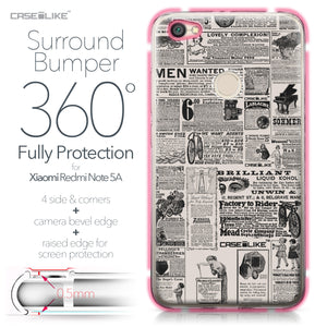 Xiaomi Redmi Note 5A case Vintage Newspaper Advertising 4818 Bumper Case Protection | CASEiLIKE.com