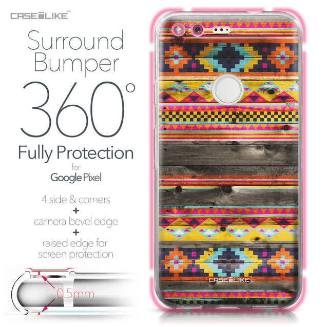 Google Pixel case Indian Tribal Theme Pattern 2048 Bumper Case Protection | CASEiLIKE.com